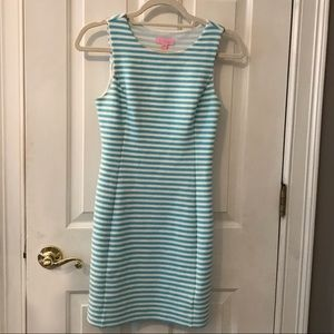 LILY PULITZER blue & white stripped dress